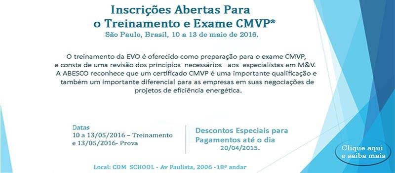 Divulgação Treinamento e Exame CMVP -